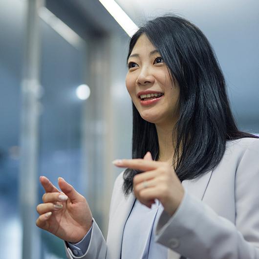 お客様満足度を追求する企業姿勢と、私の志向がマッチした。