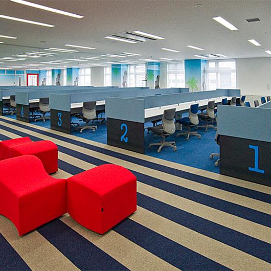 働きやすさを徹底して追求。オフィスは宮崎の観光地をイメージしてデザイン。